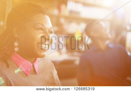 Business People Break Time Relaxation Smiling Concept