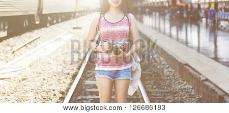 Girl Adventure Hangout Traveling Photography Concept