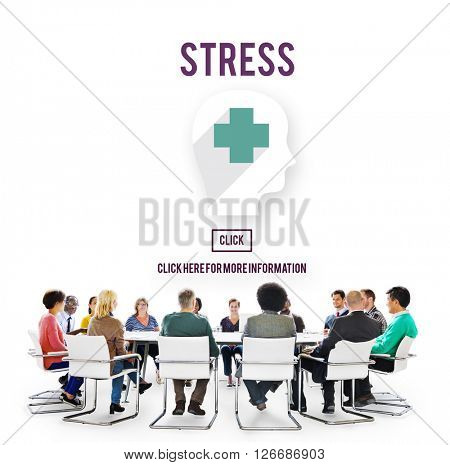 Stress Depression Anxiety Expression Frustration Concept