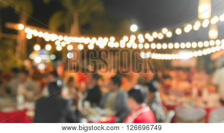 the event Party with People Blurred Background