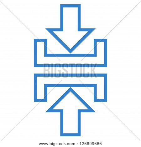 Pressure Vertical vector icon. Style is thin line icon symbol, cobalt color, white background.