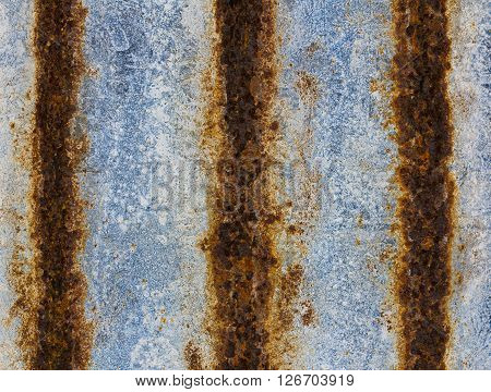 Old Rusty Zinc Plate