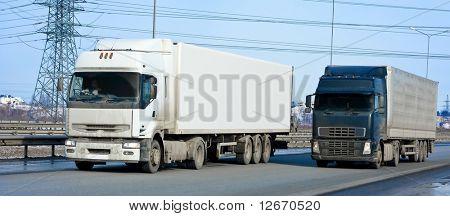 two trucks