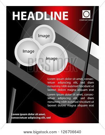 Brochure flyer background. Flyer Design - Business