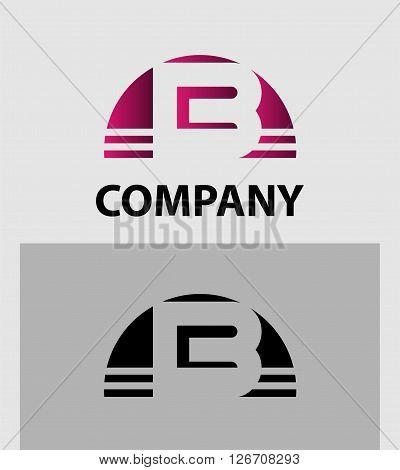 Alphabet symbol Letter B. Letter B logo design