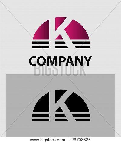 Alphabet symbol Letter K. Letter K logo icon design template elements