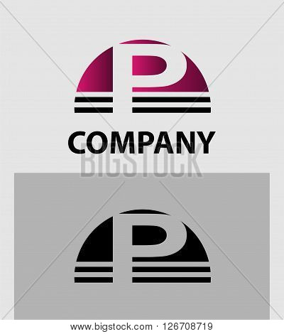 Abstract letter P icon. Letter P logo icon design template elements