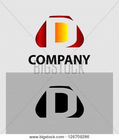 Letter D. Letter D logo icon design template elements