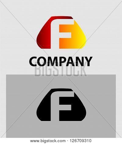 Letter F. Logo letter F company vector design template