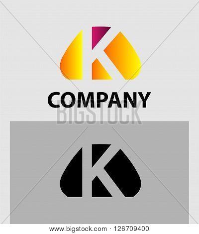 Letter K. Logo letter K company vector design template