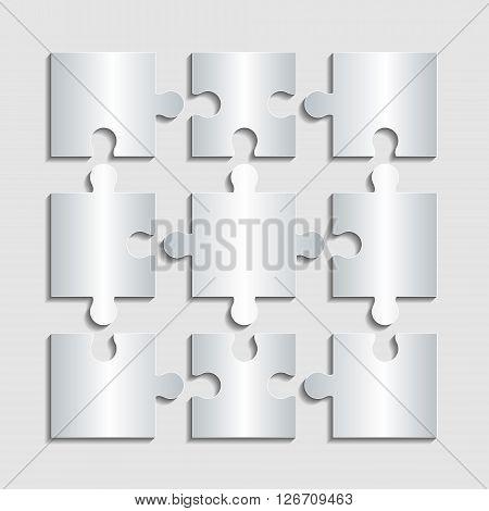 Puzzle Icon. Modern design flat style EPS