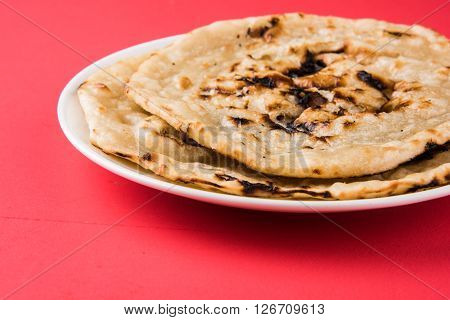indian special bread also known as butter roti, chapati, naan, kulcha, paratha, tanduri roti