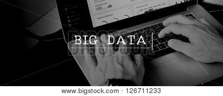 Big Data Digital Information System Technology Concept