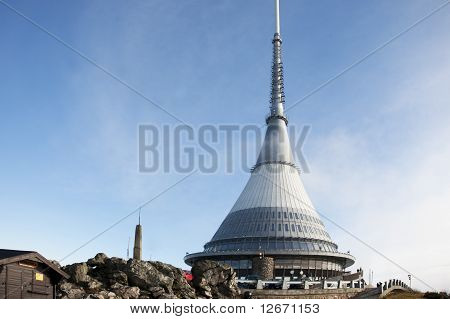 Famous architecture of broadcster Jested in Czech Republic