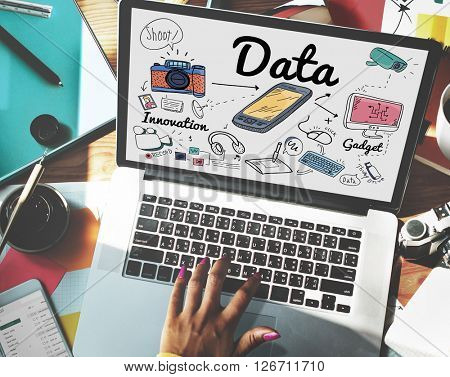 Data Information Statistics Technology Analysis Concept