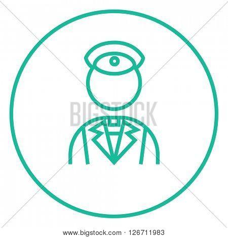 Conductor line icon.