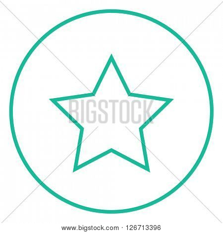 Rating star line icon.