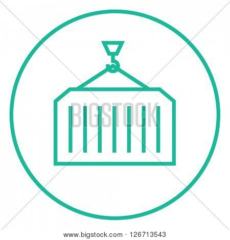Cargo container line icon.