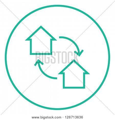 House exchange line icon.