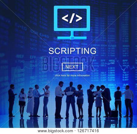 Scripting HTML Coding Development Internet Concept