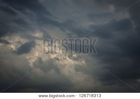 Black Cloudy On Dark Sky For Weather Background