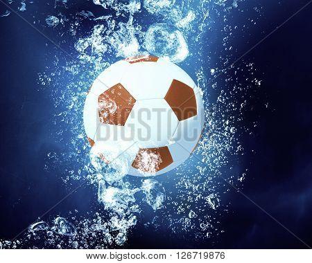 Ball under water