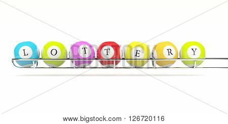 Lottery balls isolated on white. 3D illustration