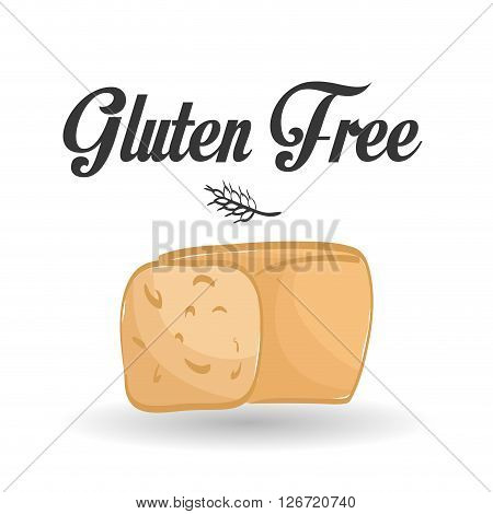 Gluten free concept with icon design, vector illustration 10 eps graphic.