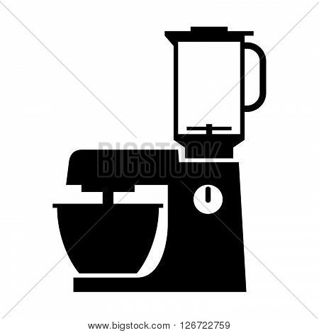 Food processor ( shade picture ) on white background