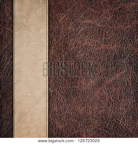 ??? bicolor leather vintage background close up