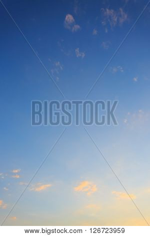 Cloud On Clear Blue Sky