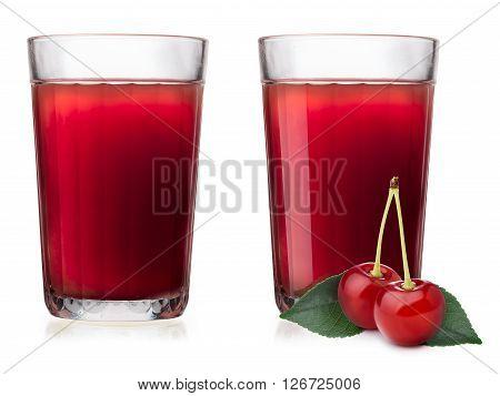 Glasses With Cherry Juice