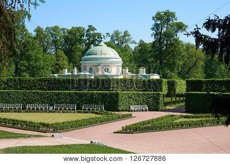 Russia, Saint Petersburg. Garden of Catherine park. Alcove.