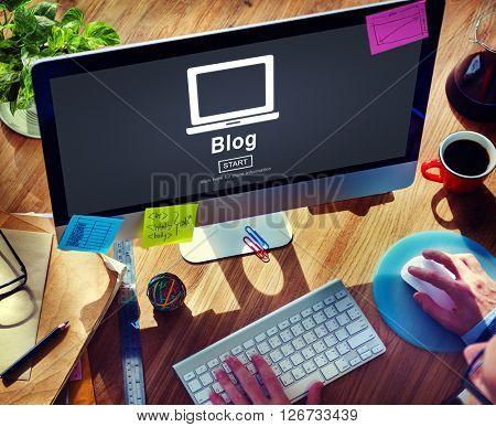 Blog Post Connect Social Media Website Concept