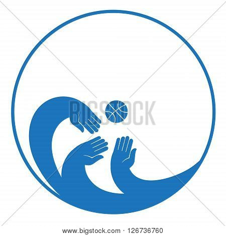 Composition is in a circular frame. Circular concept of sports decal background.