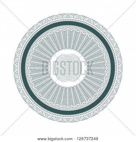 guilloche pattern twist money element vector illustration