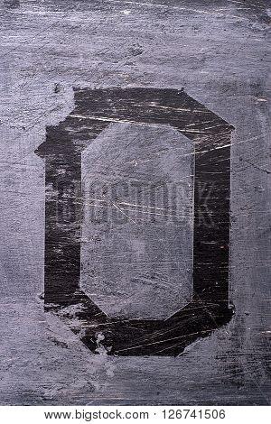 Black Grunge Alphabet. Letter O