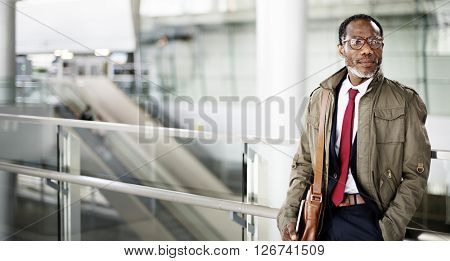 Schedule Businessman Confidence Escalator Urban Concept