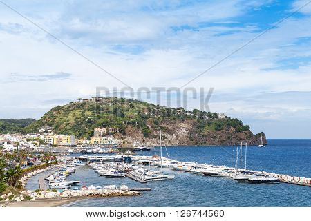 Yachts And Boats Moored In Marina, Ischia