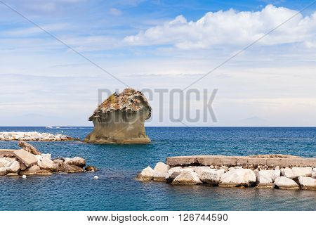 Il Fungo, Famous Rock In Shape Of Mushroom, Ischia