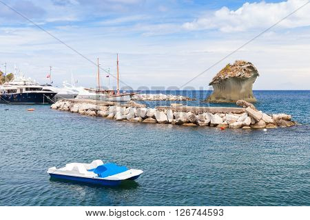 Coastal Seascape Of Lacco Ameno, Ischia Island