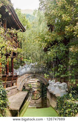 Baisha village, Lijiang Old Town, Yunnan - Traditional half timbered Architecture