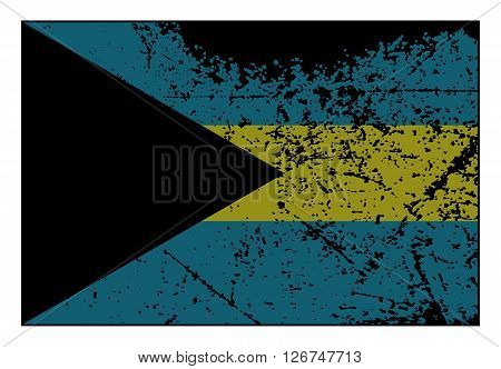 Bahamas Flag Grunged