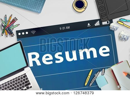 Resume CV Recruitment Employment Concept