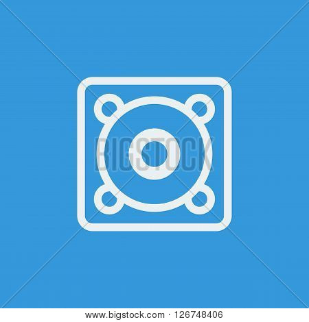 Speaker Icon In Vector Format. Premium Quality Speaker Symbol. Web Graphic Speaker Sign On Blue Back
