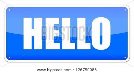 Blue Card Hello