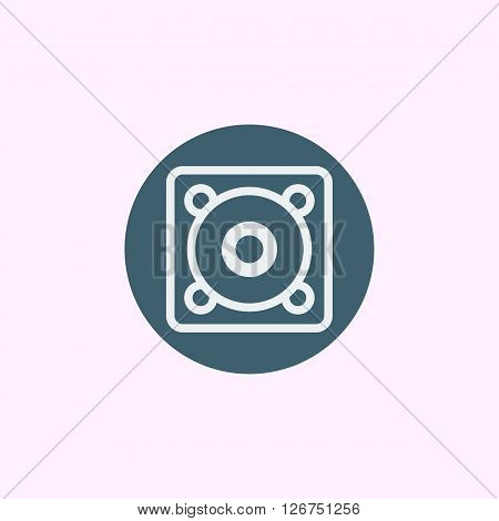 Speaker Icon In Vector Format. Premium Quality Speaker Symbol. Web Graphic Speaker Sign On Blue Circ