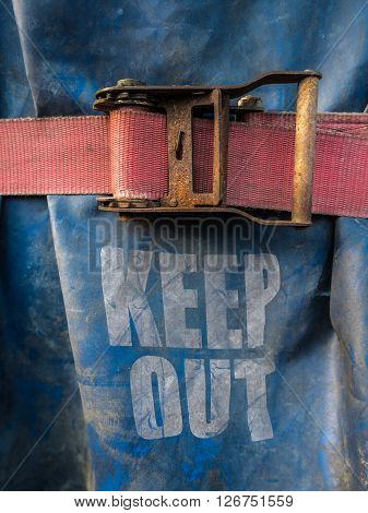 Conceptual Image Of A Keep Out Sign On At A Construction Site