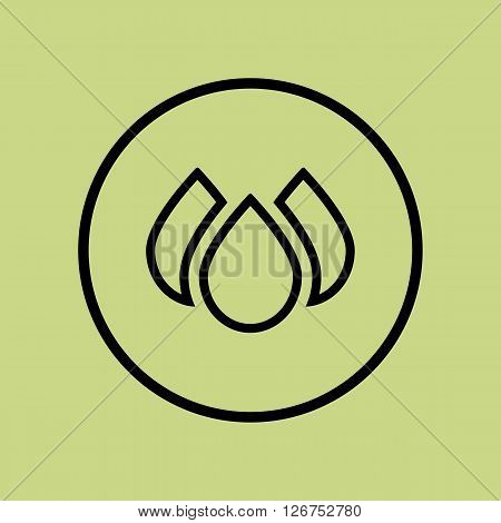 Ecology Drops Icon In Vector Format. Premium Quality Ecology Drops Symbol. Web Graphic Ecology Drops