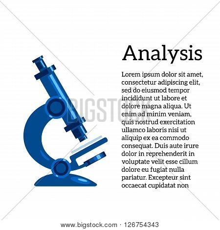 medical tests, illustration with a microscope, the study of human diseases. Medical tests and studies, review of germs and bacteria, micro-organisms through a microscope.